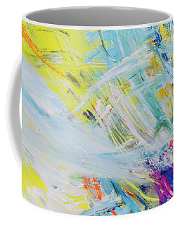 Detail Of Brush Strokes Of Random Colors To Use As Background An Coffee Mug