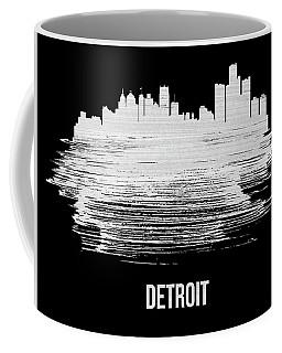 Detroit Skyline Brush Stroke White Coffee Mug