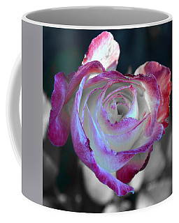 Coffee Mug featuring the photograph Dewy Rose by SimplyCMB