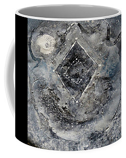 Coffee Mug featuring the painting Diamond Apparition  by 'REA' Gallery