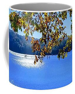 Coffee Mug featuring the photograph Diamond Ripples On The Water by Rachel Hannah