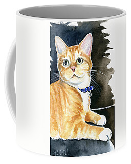Diego Ginger Tabby Cat Painting Coffee Mug