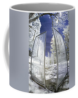 Coffee Mug featuring the photograph Dimensional Doors by Brian Hale