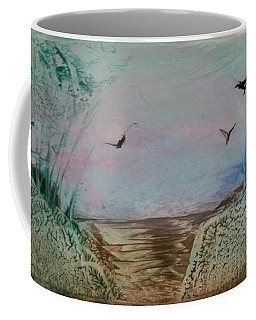 Dirt Road Through A Valley Coffee Mug