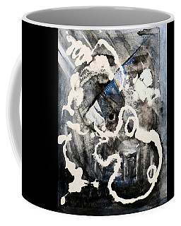 Coffee Mug featuring the painting Dismantling by 'REA' Gallery