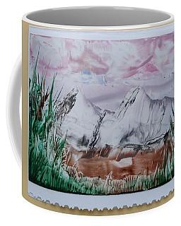 Distant Impressionistic Mountains Coffee Mug
