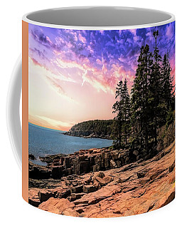 Distant View Of Otter Cliffs,acadia National Park,maine. Coffee Mug