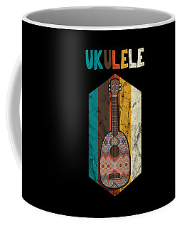 Distressed Retro Ukelele Instrument Player Musician Coffee Mug