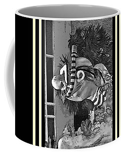 Diving The Great Barrier Reef In Black And White Coffee Mug