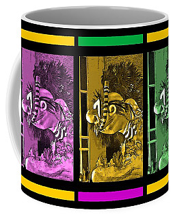 Diving The Great Barrier Reef In Purple, Gold And Green Coffee Mug