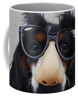 Coffee Mug featuring the digital art Dog Gone Funny by ISAW Company