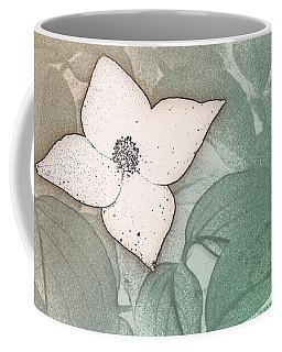 Dogwood Flower Stencil On Sandstone Coffee Mug