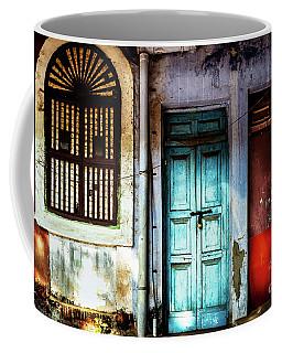 Doors Of India - Blue Door And Red Door Coffee Mug