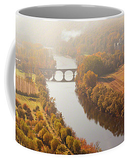 Coffee Mug featuring the photograph Dordogne River In The Mist by Mark Shoolery