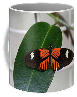 Doris Longwing On Leaf Coffee Mug