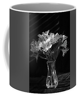 Dramatic Flowers-bw Coffee Mug