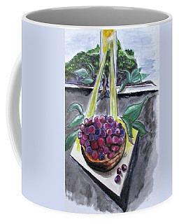 Coffee Mug featuring the painting Dreams Of Grapes by Clyde J Kell
