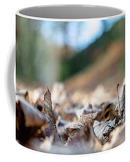 Coffee Mug featuring the photograph Dried Leaves On The Ground by Scott Lyons