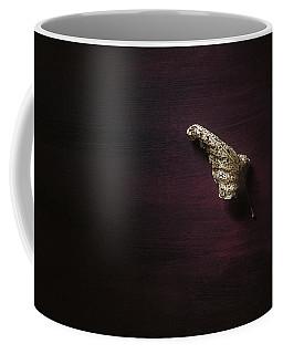 Dry Leaf On Muted Red Coffee Mug