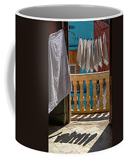 Coffee Mug featuring the photograph Drying Napkins by Tom Singleton