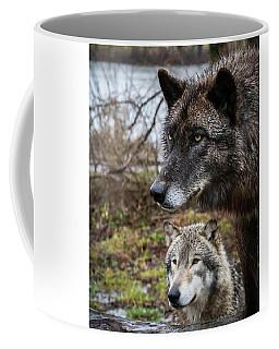 Dual Wolves Coffee Mug