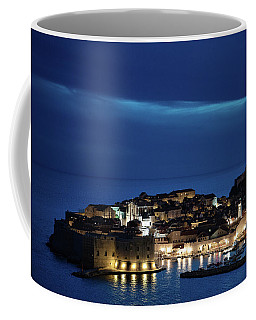 Dubrovnik Old Town At Night Coffee Mug