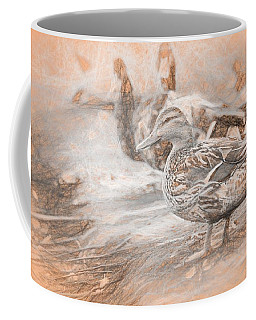 Ducks On Shore Da Vinci Coffee Mug