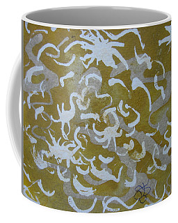 Dull Yellow With Masking Fluid Coffee Mug
