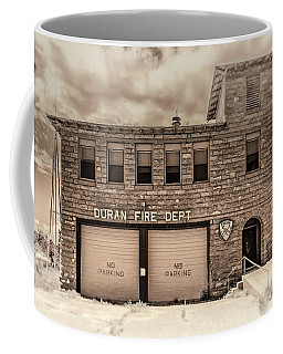Coffee Mug featuring the photograph Duran Fire Dept by Lou Novick