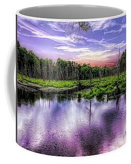 Dusk Falls Over New England Beaver Pond. Coffee Mug