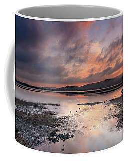 Dusky Pink Sunrise Bay Waterscape Coffee Mug