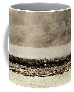 Coffee Mug featuring the photograph Dust Of The Migration by Kay Brewer