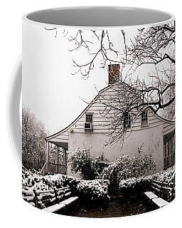 Coffee Mug featuring the photograph Dyckman Farmhouse In Winter by Cole Thompson