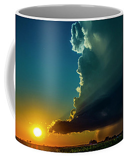 Dying Nebraska Thunderstorms At Sunset 068 Coffee Mug