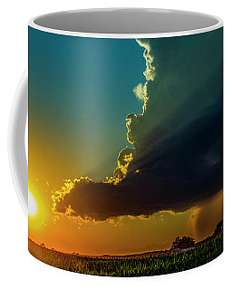 Dying Nebraska Thunderstorms At Sunset 068 Coffee Mug