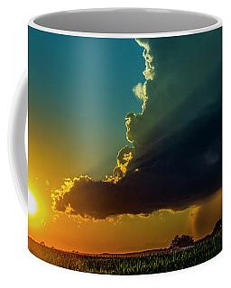 Coffee Mug featuring the photograph Dying Nebraska Thunderstorms At Sunset 068 by NebraskaSC