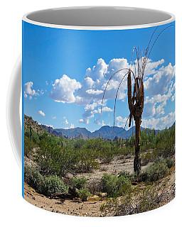 Dying Saguaro In The Desert Coffee Mug