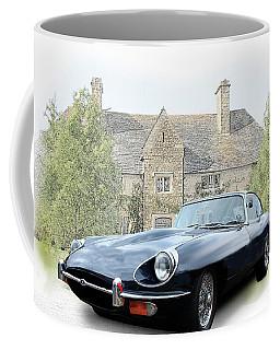 E Type Jaguar At Country House Coffee Mug