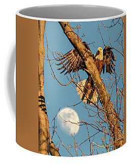 Eagle And Moon  Coffee Mug