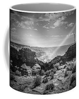 Eagle Rock, Grand Canyon In Black And White Coffee Mug