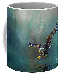 Eagle Swooping For Fish Coffee Mug