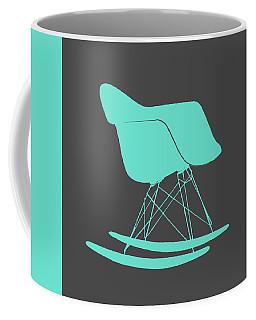 Eames Rocking Chair Teal Coffee Mug