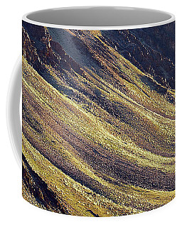 Coffee Mug featuring the photograph Early Morning Light On The Hillside In Sarchu by Whitney Goodey