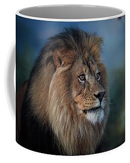 Early Morning Lion Portrait Coffee Mug