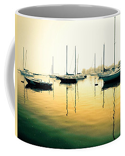 Early Mornings At The Harbour Coffee Mug