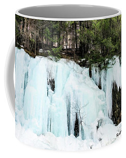 Early Spring Cliff Ice Flow Southern Vermont. Coffee Mug