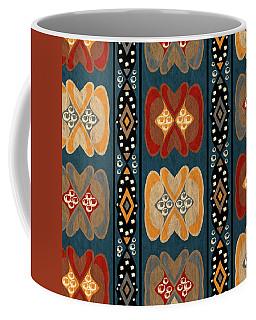 East African Heart And Diamond Stripe Pattern Coffee Mug