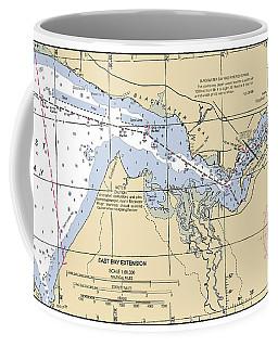 East Bay Extension Noaa Chart 11385_5 Coffee Mug