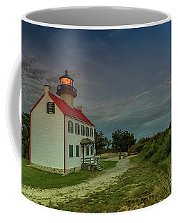 East Point Lighthouse In Moonlight Coffee Mug