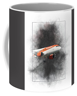 Easyjet Airbus A319-111 Painting Coffee Mug